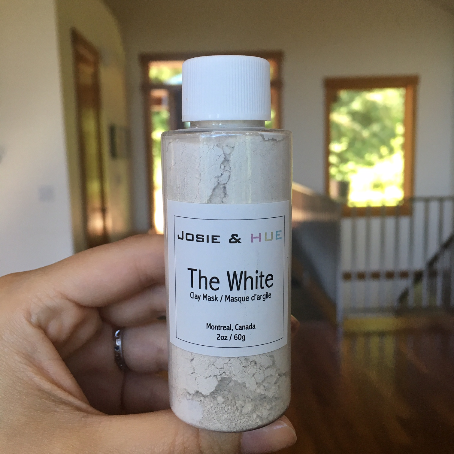 Josie and Hue white clay mask