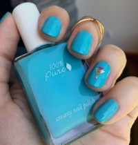 Nails of the Day: 100% Pure 'Deep Sea' Mani