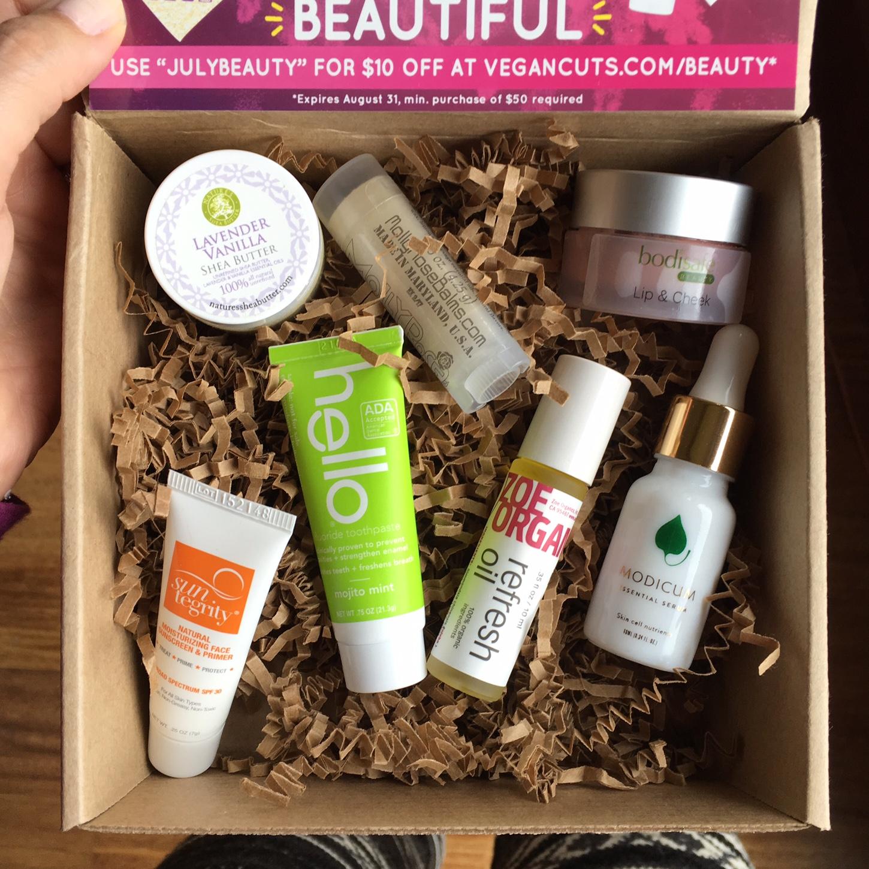 July 2016 Vegan Cuts Beauty Box