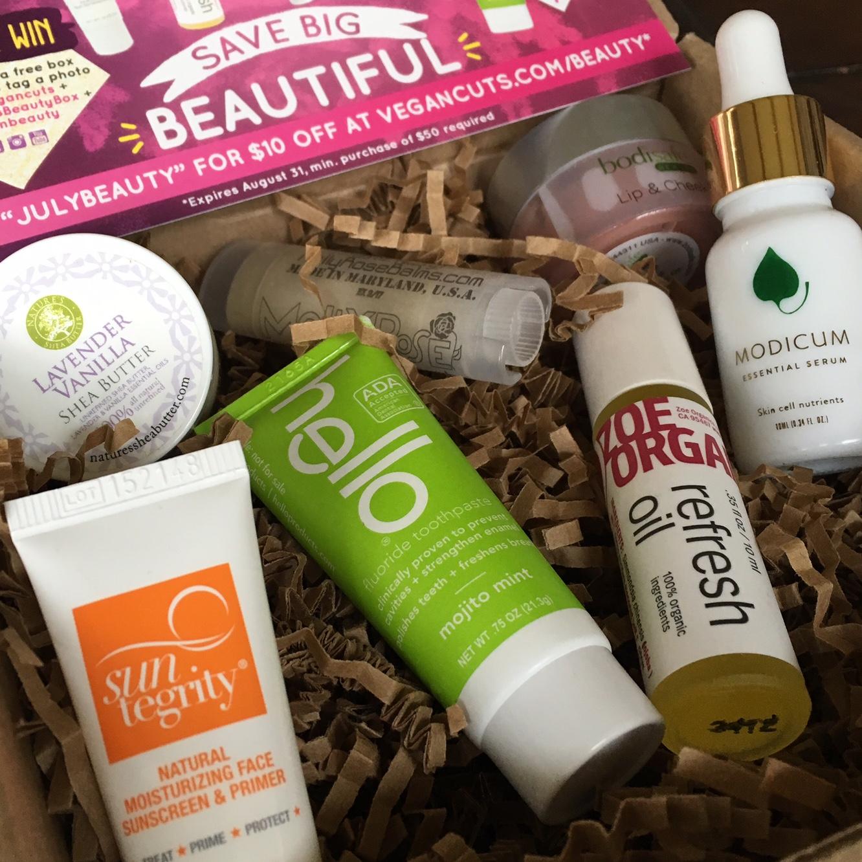 Vegan Cuts Beauty Box July 2016