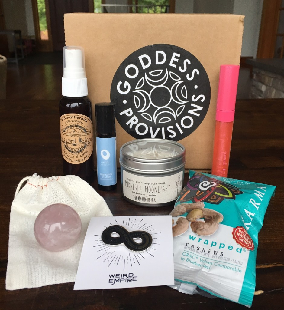 Goddess Provisions August 2016 Box Review Vegan Beauty