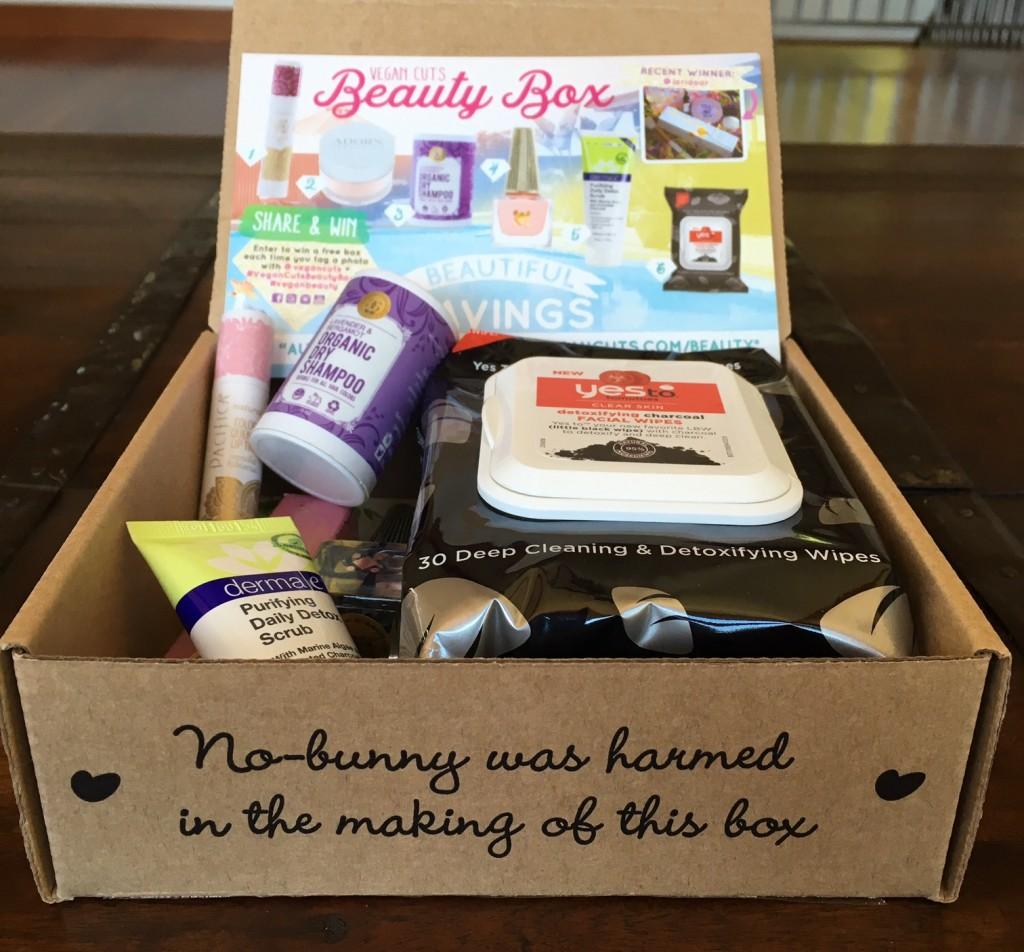 August 2016 Vegan Cuts Beauty Box Review Vegan Beauty