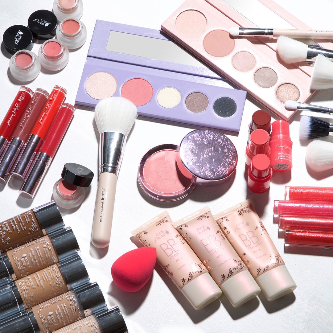 100% Pure makeup