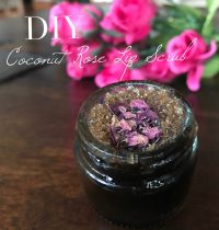 DIY Coconut Rose Lip Scrub