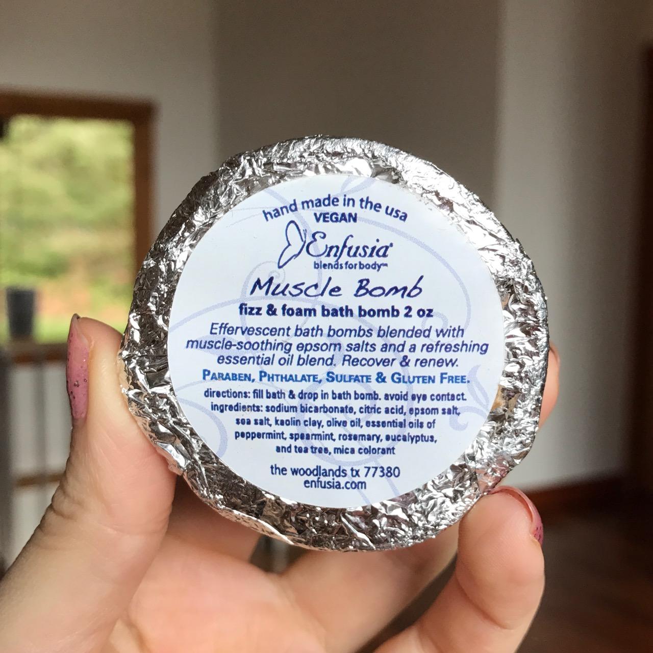 Enfusia bath bomb