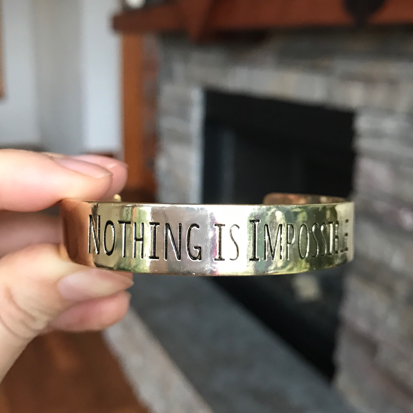 Nothing is Impossible Cuff by Buddhibox