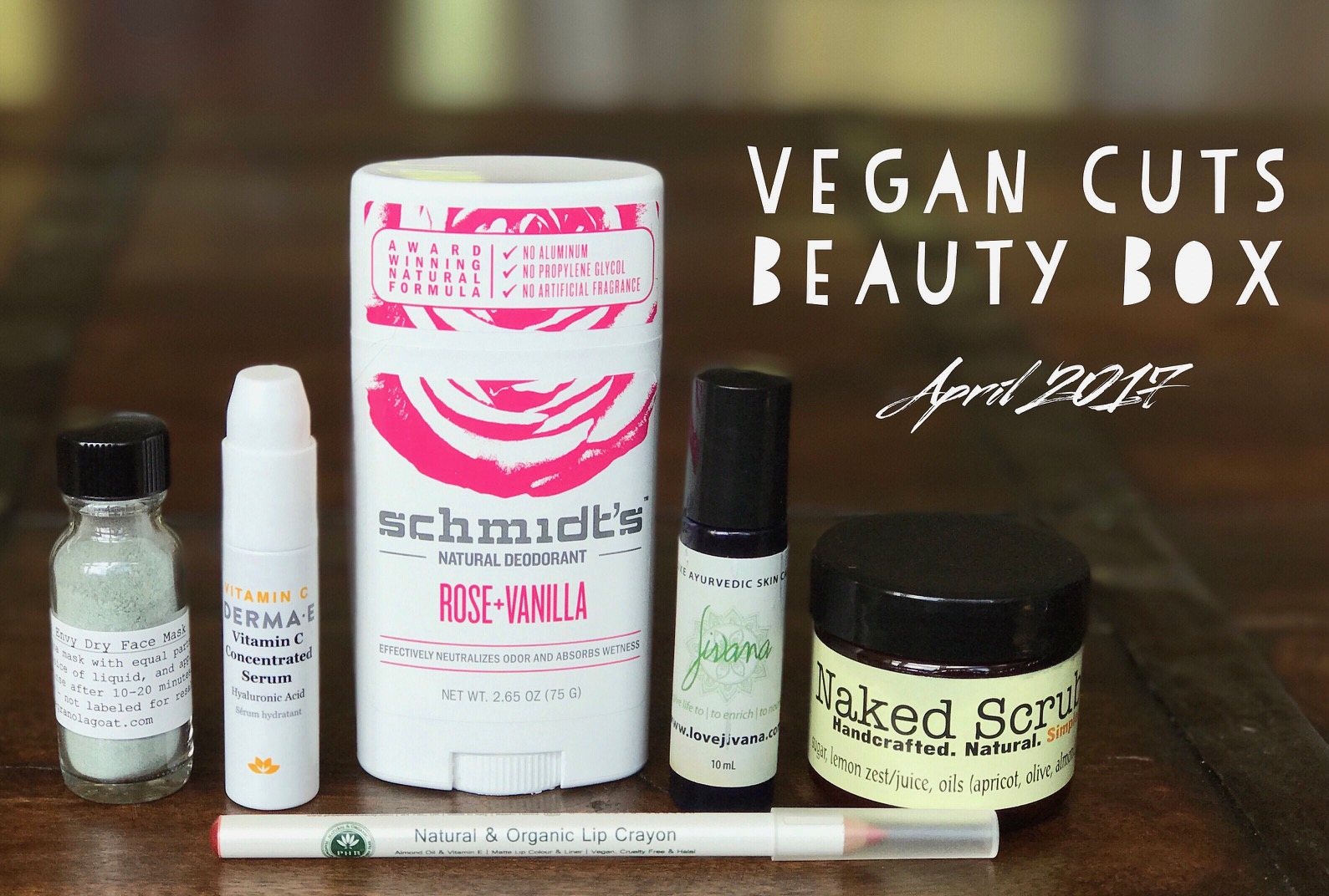 april 2017 vegan cuts beauty box review vegan beauty review vegan and cruelty free beauty. Black Bedroom Furniture Sets. Home Design Ideas