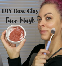 DIY Rose Clay Face Mask for Glowing Skin