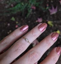 Glittery Mani of the Day and ALL the Pretty Rings